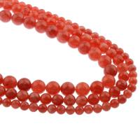 Rhodonit Perlen, rund, natürlich, verschiedene Größen vorhanden, Bohrung:ca. 1mm, verkauft per ca. 15.5 ZollInch Strang