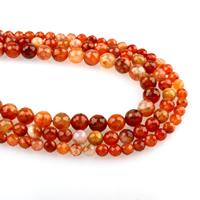rote Jade Perle, rund, verschiedene Größen vorhanden & facettierte, Bohrung:ca. 1mm, verkauft per ca. 15.5 ZollInch Strang