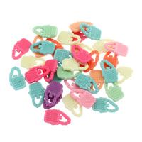Acryl Anhänger, Handtasche, gemischte Farben, 12x20x3mm, Bohrung:ca. 2mm, 500G/Tasche, verkauft von Tasche