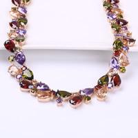 Messing Halskette, Tropfen, echtes Rósegold plattiert, für Frau & mit kubischem Zirkonia, frei von Nickel, Blei & Kadmium, 14mm, verkauft per ca. 17.7 ZollInch Strang