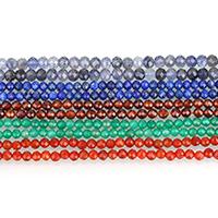 Edelstein Schmuckperlen, rund, natürliche & verschiedenen Materialien für die Wahl & verschiedene Größen vorhanden, verkauft von Strang