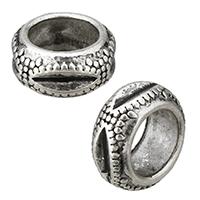 Zink Legierung Perlen Schmuck, Zinklegierung, Rad, antik silberfarben plattiert, gehämmert, frei von Nickel, Blei & Kadmium, 12x6x12mm, Bohrung:ca. 8mm, 1000PCs/Menge, verkauft von Menge