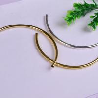 Messing Rohr Perlen, gebogenes Rohr, plattiert, frei von Nickel, Blei & Kadmium, 117x5x0.30mm, 100PCs/Tasche, verkauft von Tasche