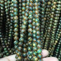 Natürliche Tibetan Achat Dzi Perlen, rund, verschiedene Größen vorhanden, keine, verkauft per ca. 12 ZollInch Strang