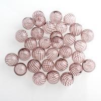Handgewickelte Perlen, Lampwork, rund, verschiedene Muster für Wahl & hohl, 14mm, Bohrung:ca. 1-2mm, 10PCs/Tasche, verkauft von Tasche