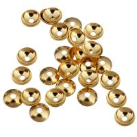 Messing Perlenkappe, vergoldet, 4x1.50mm, Bohrung:ca. 1mm, 500PCs/Menge, verkauft von Menge