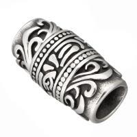 Edelstahl Magnetverschluss, Schwärzen, 25x13x13mm, Innendurchmesser:ca. 8.5mm, 10PCs/Menge, verkauft von Menge