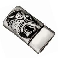 Edelstahl Magnetverschluss, Schwärzen, 29x16x13mm, Innendurchmesser:ca. 13x7mm, 10PCs/Menge, verkauft von Menge