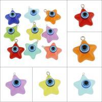 Evil Eye Anhänger, Acryl, mit Zinklegierung, böser Blick- Muster, keine, 22x29x17mm, Bohrung:ca. 1-4mm, 50PCs/Tasche, verkauft von Tasche