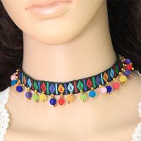 Mode-Halskette, Nylonschnur, mit Zinklegierung, plattiert, Twist oval & für Frau, keine, 12mm, verkauft per ca. 11.8 ZollInch Strang