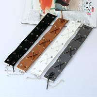 Mode-Halskette, Zinklegierung, mit Nylon, Platinfarbe platiniert, für Frau, keine, frei von Blei & Kadmium, 380mm, verkauft per ca. 11.5 ZollInch Strang