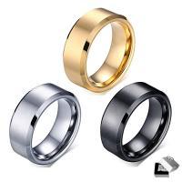 Wolfram Stahl Ring für Männer, plattiert, verschiedene Größen vorhanden & für den Menschen, keine, 8mm, verkauft von PC