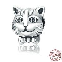 Thailand European Perlen, Katze, ohne troll, 10x12x10mm, Bohrung:ca. 4.5mm, verkauft von PC