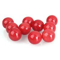 rote Jade Perle, rund, kein Loch, 14mm, verkauft von PC
