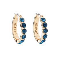 Zinklegierung Ohrringe, Edelstahl Stecker, goldfarben plattiert, für Frau & mit Strass, keine, frei von Blei & Kadmium, 20x20mm, verkauft von Paar