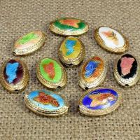 Cloisonne Perlen, Cloisonné, oval, handgemacht, keine, 20x14mm, Bohrung:ca. 1.5mm, 10PCs/Tasche, verkauft von Tasche