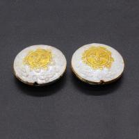 Cloisonne Perlen, Cloisonné, flache Runde, handgemacht, keine, 19mm, Bohrung:ca. 1.5mm, 10PCs/Tasche, verkauft von Tasche