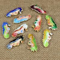 Cloisonne Perlen, Cloisonné, Seepferd, handgemacht, hohl, keine, 26x12mm, Bohrung:ca. 1.5mm, 10PCs/Tasche, verkauft von Tasche