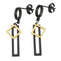 Edelstahl Tropfen Ohrring, plattiert, verschiedene Verpackungs Art für Wahl & für Frau, 34mm, 5x22.5mm, verkauft von Paar