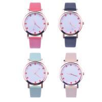Damen Armbanduhr, PU Leder, mit Glas & Zinklegierung, Rósegold-Farbe plattiert, für Frau, keine, 37x8mm, Länge:ca. 8.5 ZollInch, verkauft von PC
