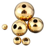 Edelstahl-Beads, Edelstahl, Trommel, goldfarben plattiert, verschiedene Größen vorhanden, 100PCs/Menge, verkauft von Menge