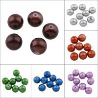 Acryl Schmuck Perlen, rund, Spritzlackierung, keine, 16mm, Bohrung:ca. 2.5mm, ca. 210PCs/Tasche, verkauft von Tasche
