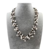 Natürliche Süßwasserperlen Halskette, Natürliche kultivierte Süßwasserperlen, mit Nylonschnur, für Frau, 7-9mm, verkauft per ca. 20.5 ZollInch Strang