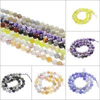 Feuerachat Perle, rund, verschiedene Größen vorhanden & facettierte, keine, Bohrung:ca. 1mm, verkauft per ca. 15.3 ZollInch Strang