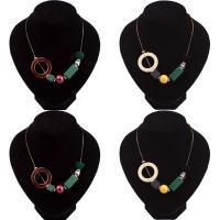 Mode Statement Halskette, Zinklegierung, mit Kristall & Acryl, mit Verlängerungskettchen von 2inch, goldfarben plattiert, Schlangekette & für Frau & facettierte, keine, frei von Nickel, Blei & Kadmium, verkauft per ca. 15.7 ZollInch Strang