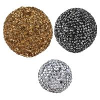 Lehm pflastern Perle, silberfarben plattiert, verschiedene Größen vorhanden & mit Strass, keine, 10PCs/Menge, verkauft von Menge