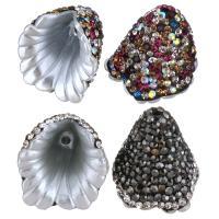 Ton Perlkappen, mit Harz, keine, 18x18x19mm, Bohrung:ca. 1.5mm, 10PCs/Menge, verkauft von Menge