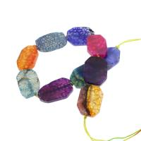 Natürliche Drachen Venen Achat Perlen, Drachenvenen Achat, 25x33x6mm, Bohrung:ca. 2mm, 10PCs/Strang, verkauft per ca. 14.1 ZollInch Strang