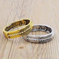 Zinklegierung Armband, plattiert, für Frau & mit Strass, keine, frei von Blei & Kadmium, 190mm, verkauft per ca. 7 ZollInch Strang