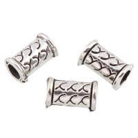 Zink Legierung Perlen Schmuck, Zinklegierung, Trommel, antik silberfarben plattiert, frei von Blei & Kadmium, 11x6mm, Bohrung:ca. 3.5mm, 50PCs/Tasche, verkauft von Tasche