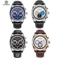 OCHSTIN® Uhrenkollektion, Kuhhaut, mit Glas & Edelstahl, plattiert, 10M wasserdicht & einstellbar & für den Menschen, keine, 44xx44x12mm, 22mm, Länge:ca. 10.2 ZollInch, verkauft von PC