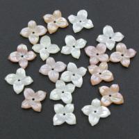 Muschel Perle, Blume, verschiedenen Materialien für die Wahl, 9x9x2mm, Bohrung:ca. 0.5mm, 30PCs/Tasche, verkauft von Tasche