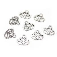 Zinklegierung Blume Anhänger, Lotus, plattiert, hohl, frei von Nickel, Blei & Kadmium, 16mm, Bohrung:ca. 2mm, 100PCs/Tasche, verkauft von Tasche