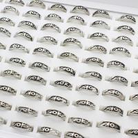 Zinklegierung Fingerring , antik silberfarben plattiert, unisex, frei von Blei & Kadmium, 21x22x6.5mm, Größe:6-9, 100PCs/Box, verkauft von Box