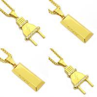 Zinklegierung Pullover Halskette, goldfarben plattiert, unisex & Seil-Kette & verschiedene Stile für Wahl & mit Strass, frei von Nickel, Blei & Kadmium, verkauft per ca. 29.5 ZollInch Strang