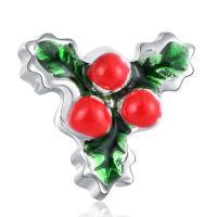 Europa Beads Weihnachten, Zinklegierung, Platinfarbe platiniert, Weihnachtsschmuck & ohne troll & Emaille, frei von Blei & Kadmium, 13x13mm, Bohrung:ca. 4-4.5mm, 20PCs/Tasche, verkauft von Tasche