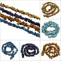 Synthetische Türkis Perle, keine, 8x5x6mm-15x11x10mm, Bohrung:ca. 1mm, ca. 65PCs/Strang, verkauft per ca. 15.5 ZollInch Strang