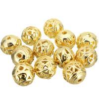 Edelstahl-Beads, Edelstahl, goldfarben plattiert, verschiedene Stile für Wahl & hohl, 11x10x11mm, Bohrung:ca. 1.9mm, 100PCs/Menge, verkauft von Menge