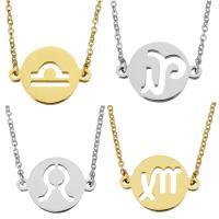 Edelstahl Schmuck Halskette, mit Verlängerungskettchen von 2Inch, plattiert, Oval-Kette & verschiedene Stile für Wahl & für Frau, 21x15mm, 1.5mm, verkauft per ca. 18 ZollInch Strang