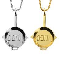Zinklegierung Pullover Halskette, plattiert, unisex & Kastenkette, keine, 51x85mm, verkauft per ca. 30 ZollInch Strang