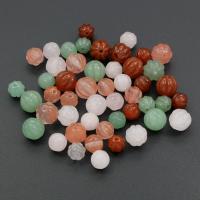 Edelstein Schmuckperlen, rund, verschiedenen Materialien für die Wahl & verschiedene Größen vorhanden, Bohrung:ca. 1-1.5mm, verkauft von PC