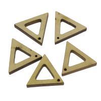 Holz Anhänger, Dreieck, 30x25x15mm, Bohrung:ca. 1.5mm, 100PCs/Tasche, verkauft von Tasche