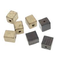 Holzperlen, Holz, Quadrat, verschiedene Größen vorhanden, Bohrung:ca. 2-4mm, 100PCs/Tasche, verkauft von Tasche