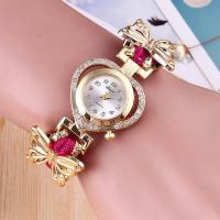 Damen Armbanduhr, PU Leder, mit Terylen Band & Glas, plattiert, für Frau & mit Strass, keine, 16mm, 15mm, Länge:ca. 8.7 ZollInch, verkauft von PC