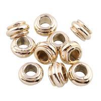 Zink Legierung Europa Perlen, Zinklegierung, Rondell, goldfarben plattiert, frei von Blei & Kadmium, 5x9.5mm, Bohrung:ca. 4.5mm, 10PCs/Tasche, verkauft von Tasche
