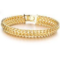 18 K Gold Armband, plattiert, unisex, 11mm, verkauft per ca. 8 ZollInch Strang